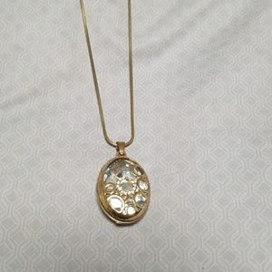 Jewelry - Gold and faux diamond long necklace
